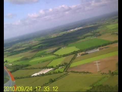 Beelden vanuit een modelvliegtuig tijdens Elektrosleep