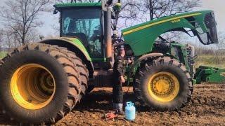 трактор John Deere 8430 ремонт, диагностика и заправка кондиционера.