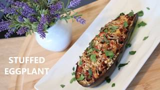 Stuffed Eggplant | Traditional Mediterranean Dish | Greek Style Eggplant Recipe