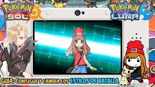 GUIA: Consigue Y Cambia Los ESTILOS Y POSES De Batalla - Pokémon Sol Y Luna