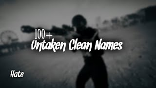 100+ SWEATY/CLEAN SOUNDING NAMES NOT TAKEN 2020