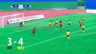 Indonesia 3 - 4 Malaysia   AFF U18 CHAMPIONSHIP 2019 FULL HD   SEMIFINALS   17/08/2019