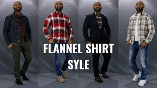 How To Wear A Flannel Shirt/How A Flannel Shirt Should Fit