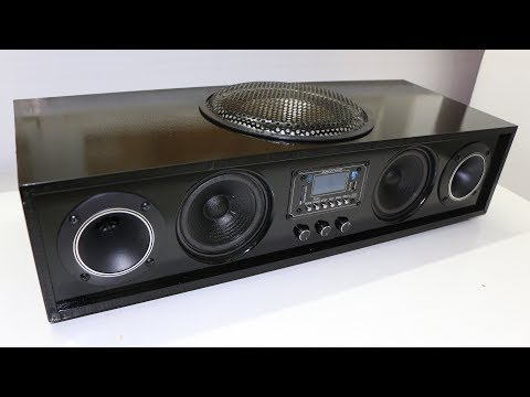👷 DIY Homemade HiFi Soundbar (REAL)