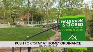 City of Greenville pushing for Stay at Home Ordinance