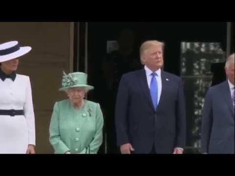 ARRIVAL CEREMONY: President Trump and Melania Trump Buckingham Palace Ceremony