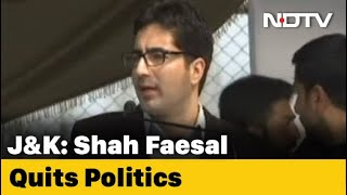 Jammu And Kashmir Leader Shah Faesal Quits Politics NDTV - Download this Video in MP3, M4A, WEBM, MP4, 3GP