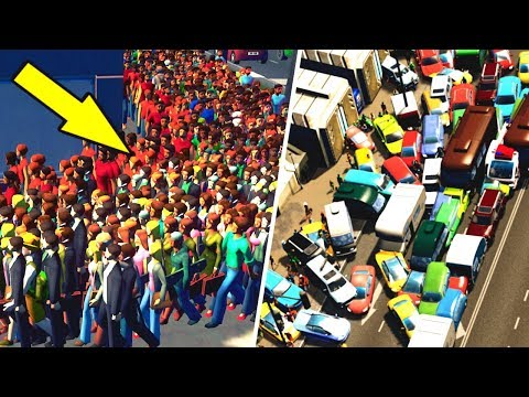 MASS MIGRATION of Citizens caused by Horrendous Traffic in Cities Skylines!