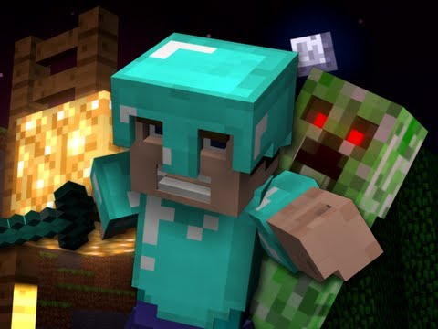 Usher - DJ Got Us Fallin' In Love Minecraft parodie