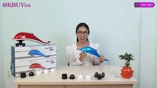 Khám phá công dụng của máy massage cầm tay cá heo PULI PL-608B - 6 đầu