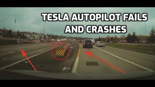 TESLA AUTOPILOT FAILS and Crashes (2019)