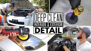Complete Interior & Exterior Detailing || Deep Cleaning A Nissan 350Z!
