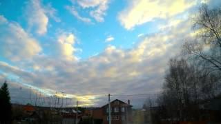 Timelaps Вечернее небо