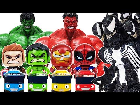 Avengers, Tayo Go~! Hulk, Spider-Man, Iron Man, Captain America