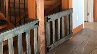 DIY: $25 Wood Baby Gates