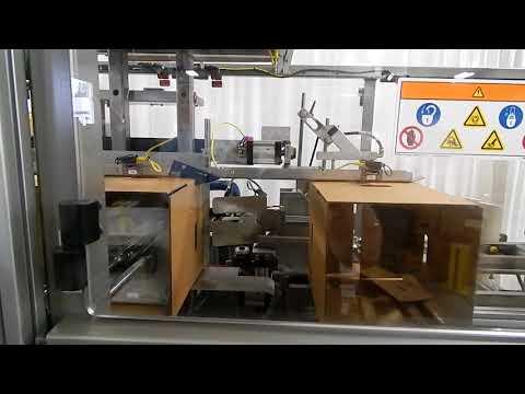 Formadora de cajas Horizontal con Hot Melt HCE HM a una velocidad de 31 cpm