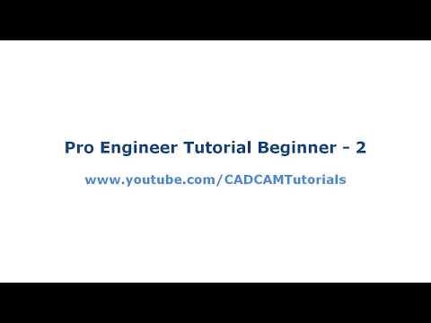 Pro Engineer Tutorial for Beginner - 2 - YouTube