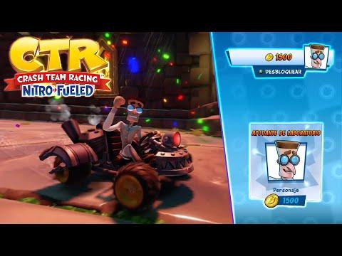 Crash Team Racing Nitro-Fueled - Desbloqueamos a (Ayudante de laboratorio)