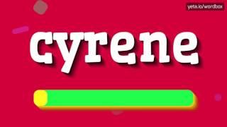 CYRENE - HOW TO PRONOUNCE IT!?
