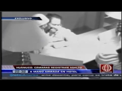 Camara de seguridad registro asalto en Huanuco