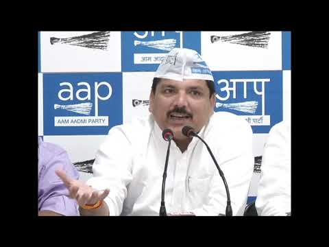 AAP Rajya Sabha Member Sanjay Singh Briefed on Rajasthan Issue