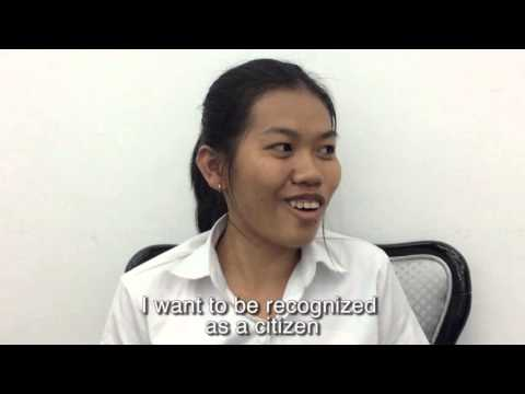 Image of the video: Self-advocates from Cambodia: Accessing the Ballot Box