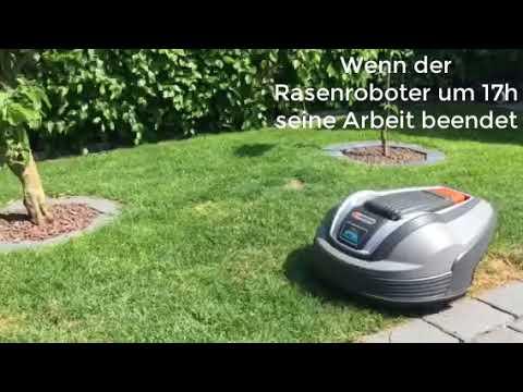 Maehroboter Rolltor Garage Marke Eigenbau