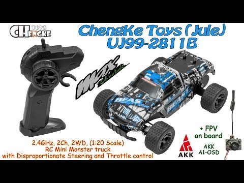 ChengKe Toys (Jule) UJ99-2811B 2.4GHz, 2Ch, 2WD, 1:20 Scale, Mini Monster (RTR) +AKK A1-OSD On Board