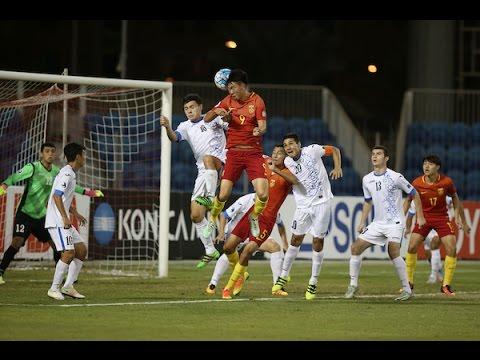 Uzbekistan U19 - Китай U19 0:0. Видеообзор матча 21.10.2016. Видео голов и опасных моментов игры