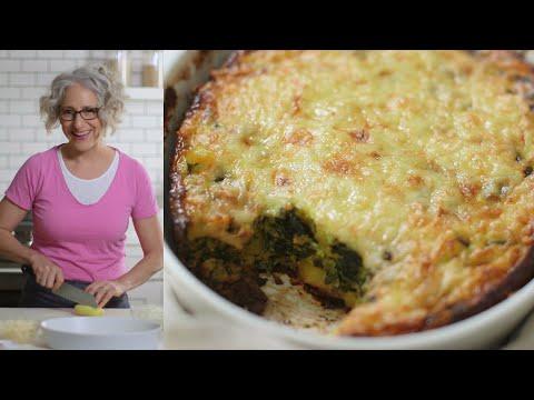 CHEESY SPINACH-POTATO EGG CASSEROLE – EVERYDAY FOOD WITH SARAH CAREY