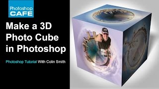 How To Make A  3d Photo Cube In Photoshop Tutorial