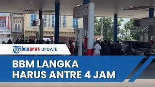 Stok BBM di Medan Semakin Langka, Sopir Angkot Kelimpungan & Harus Rela Antre hingga 4 Jam di SPBU