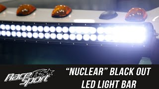 "In the Garage with Total Truck Centers: Race Sport ""NUCLEAR"" Black Out Light Bar, Part 2"