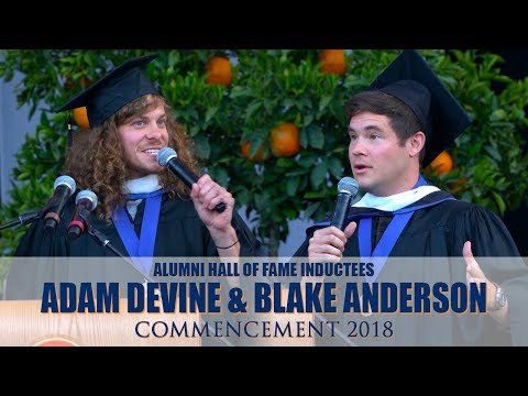 Commencement 2018⎪Alumni Hall of Fame Inductees Adam Devine & Blake Anderson