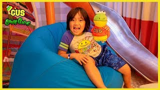 Ryan took Gus the Gummy Gator on a Cruise ! Family Fun Vacation Trip with Ryan ToysReview!