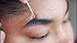 DIY SUGAR WAX HAIR REMOVAL | How To Wax Your Eyebrows At Home