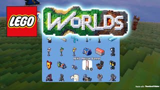 Lego worlds- new update 1.04 plus NEXO KNIGHT dlc with some  new characters , vehicles ,brick builds
