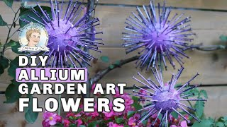 DIY Allium Garden Art