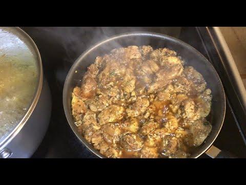 Chicken Steak Strips & Fried Spinach | Cooking Recipe