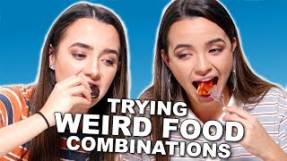 WEIRD Food Combinations People LOVE!!! - Merrell Twins