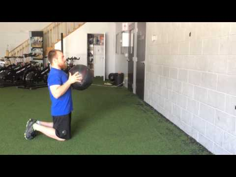 Kneeling Medicine Ball Throw From Chest