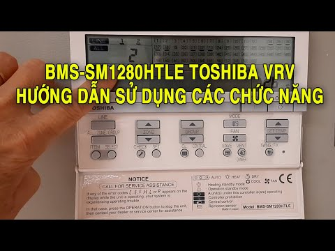 Controller manual for VRV Toshiba bms sm1280htle