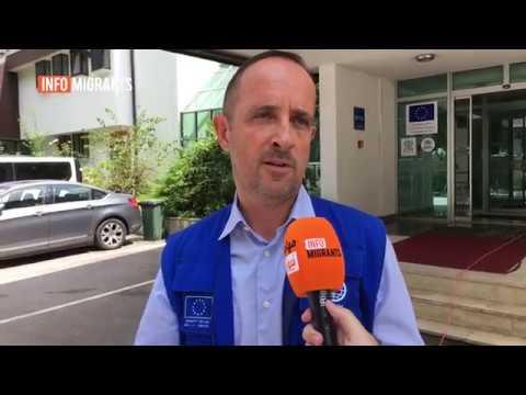 Peter Van der Auweraert, IOM's representative in Bosnia and Herzegovina, spoke to InfoMigrants on August 2, 2018 | Credit: InfoMigrants