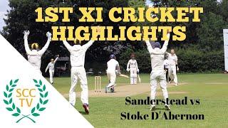 SURREY CHAMPIONSHIP DIV 2 CRICKET HIGHLIGHTS: Sanderstead 1st XI vs Stoke D'Abernon 1st XI