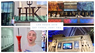 Las Vegas Vlog - March 2018 - Day 3 - Part 2 - Lunch at Hell's Kitchen and Fat Tuesday's