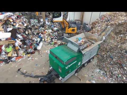 Komptech Terminator Single-Shaft Shredder Processing Municipal Waste