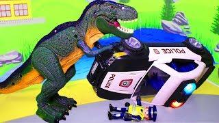 Мультики про динозавров и машинки для мальчиков. Динозаврение – Видео с игрушками
