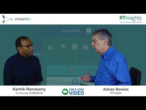 Video of RTInsights's Adrian Bowles interviewing Streamlio's Karthik Ramasamy