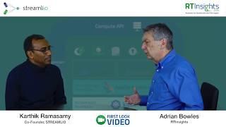 Video of RTInsights's Adrian Bowles interviewing Streamlio's Karthik Ramasamy