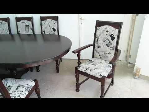 Új! Prémium minőségű 12 személyes Lincoln étkezőgarnitúra, 120x360 cm-es asztal + 12 szék, raktárról
